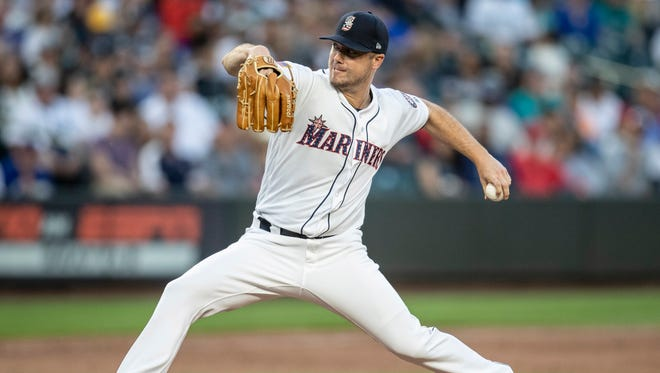 The Mariners signed Wade LeBlanc to a contract extension before his start Tuesday, then he went out and pitched like he deserved it. LeBlanc allowed just three hits, one walk and one run over seven innings of the Mariners' 4-1 win.