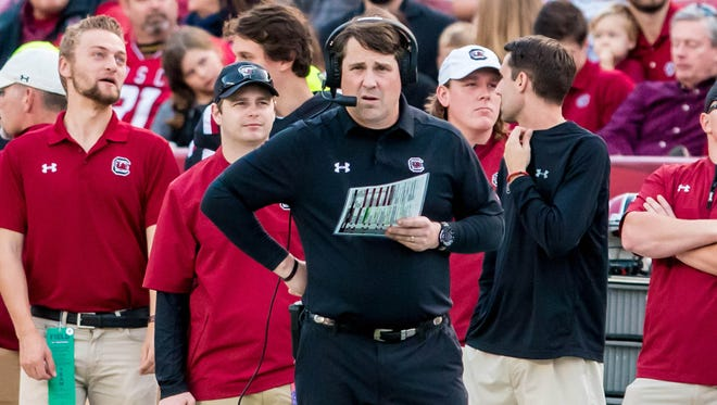 As South Carolina starts its third spring football practice under coach Will Muschamp, the Gamecocks offensive line is a work in progress.
