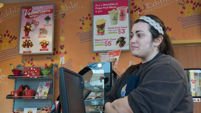 Genevieve Mundey of Edible Arrangements talks Plymouth parking woes.