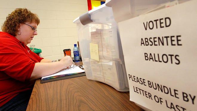 City of Delafield Clerk-Treasurer Gina Gresch City process 1,542 absentee ballots on Nov. 4, 2008.