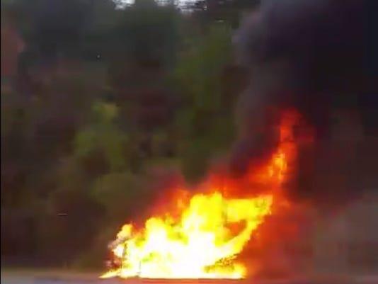 Car fire Denville