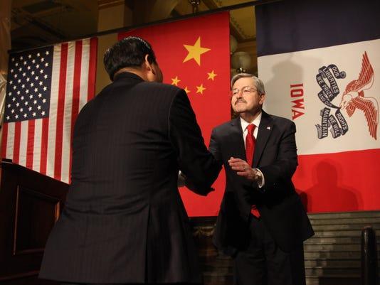China Vice President Xi JinpingIowa Governor Terry Branstad