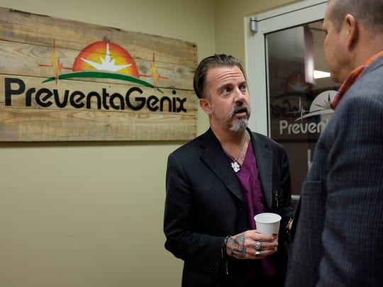 Jeffrey Young of PreventaGenix hosts Business After Hours on January 29, 2015. (Aaron Hardin/The Jackson Sun)