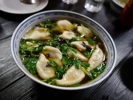 Hot & sour lamb dumpling soup at Shaanxi Garden in