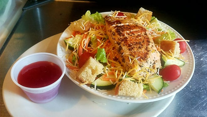 The Grilled Salmon Salad is one of the newer additions to the menu at Landmark.