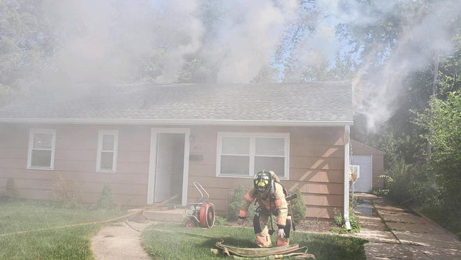 The house at 1811 Sauber Ave. in Rockford was damaged  by fire on Saturday, July 4, 2020. No one was injured.