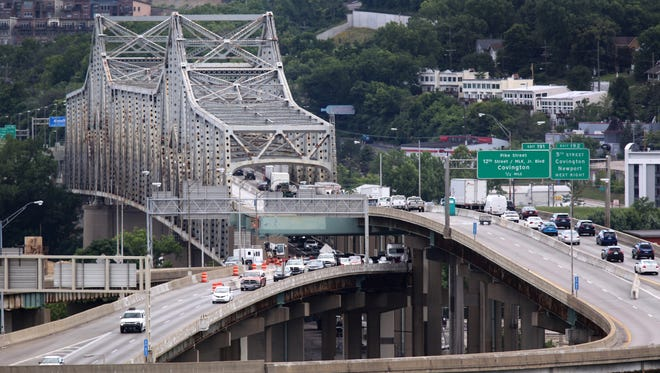 The right two lanes of northbound Interstate 71/75 over the Ohio River will be closed from 7 a.m. until approximately 6 p.m. Saturday.