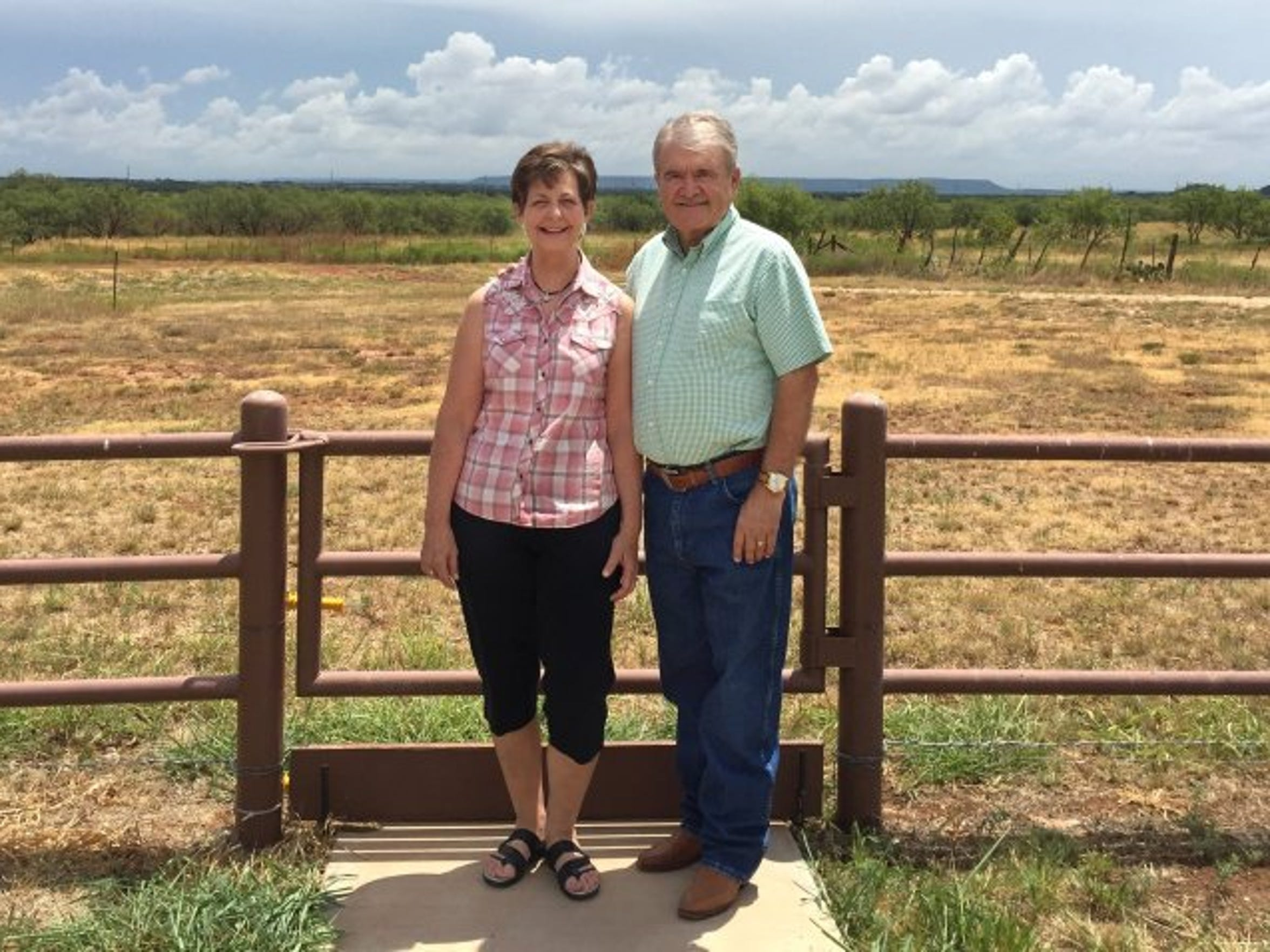 Rae Ann and Lee Hamilton at their ranch home in southern Taylor County.