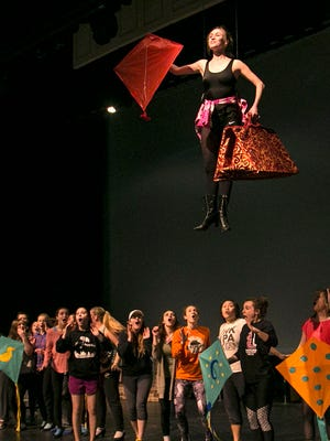 Mikayla Myers plays the title role of Mary Poppins during a rehearsal in Archer Auditorium at Ashland High School. The play will go in to production on the weekend of Feb. 24.