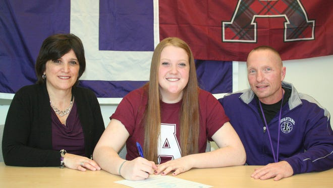 Lakeview's Emily Eldridge has committed to play women's basketball at Alma College.