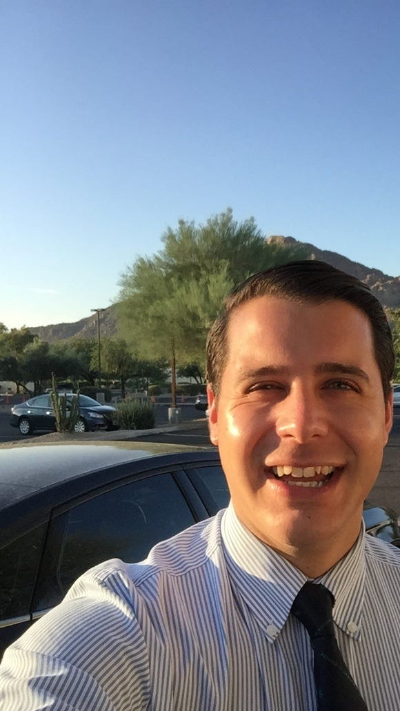 Gov. Doug Ducey's bodyman Anthony Janssen also doubles