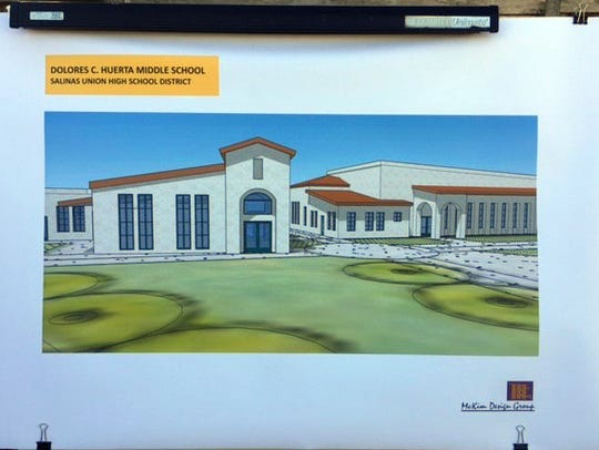 Initial drawing of Dolores Huerta Middle School, Salinas