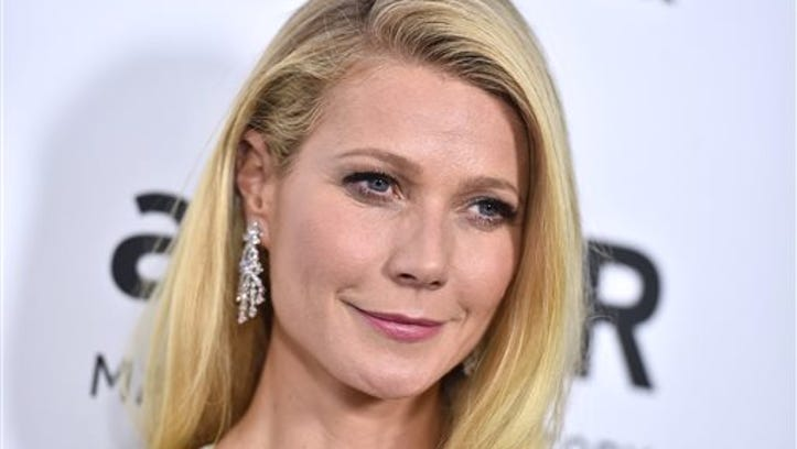 FILE - In this Oct. 29, 2015 file photo, Gwyneth Paltrow arrives at the amfAR Inspiration Gala in Los Angeles. Dante Soiu, an Ohio man charged with stalking Paltrow by sending her dozens of messages and unsolicited gifts  between 2009 and 2015, testified in his own defense about the correspondence at his trial in Los Angeles Superior Court on Wednesday, Feb. 10, 2016.