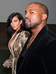 Kim Kardashian and Kanye West attend the 57th Annual Grammy Awards Official After Party on Feb. 8 in Los Angeles.