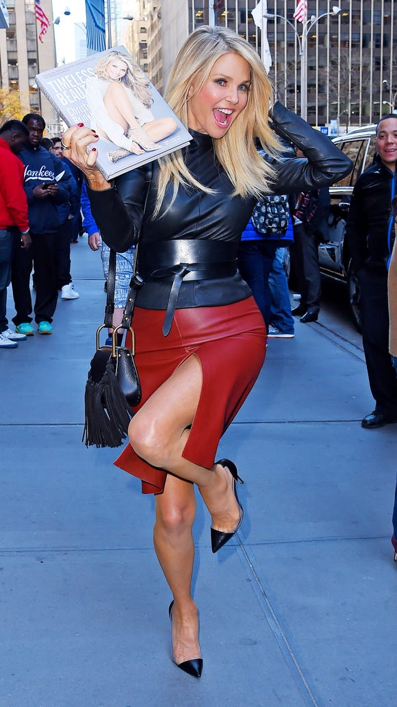 """Christie Brinkley is a walking ad for her book, """"Timeless"""
