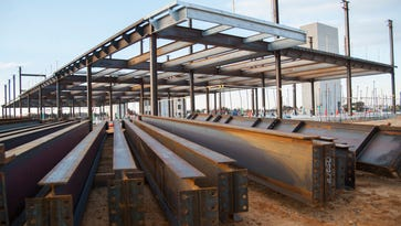 First steel beams are up at Inspira Mullica Hill construction site