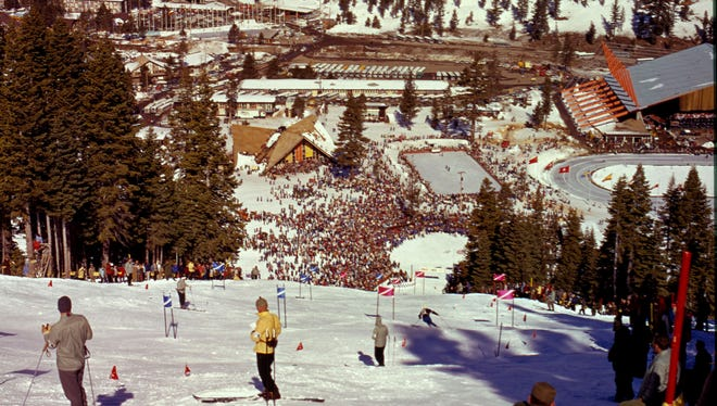 The women's giant slalom at the 1960 Squaw Valley Olympics.