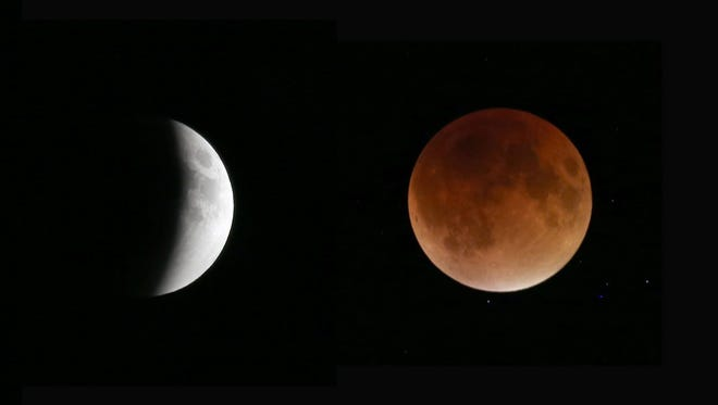 Photographer Max Schulte took thse images of the @SuperBlookMoon over Rochester Sunday, Sept. 27, 2015.