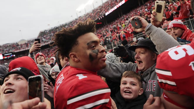 Ohio State quarterback Justin Fields created an online petition on Sunday asking the Big Ten to reconsider its decision to cancel football among other fall sports.