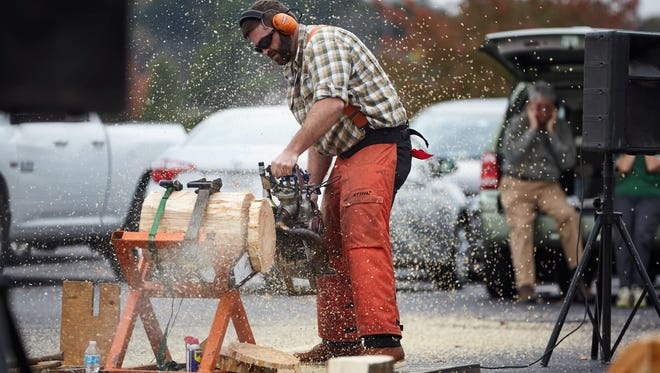 The store plans to mark its opening with on-site demonstrations by lumberjacks who will throw axes and demonstrate the art of chainsaw carving.