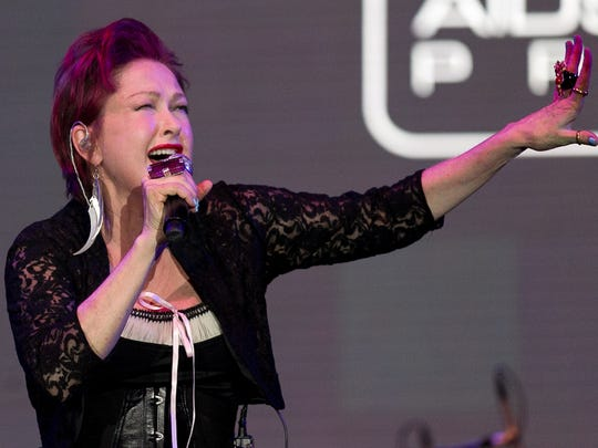 Cyndi Lauper, seen performing at an Evening Under The Stars fundraiser for the AIDS Assistance Program in 2013, will perform at Stagecoach in April