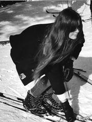 A photo of Nancy Henderson skiing in 1967. Two years earlier, her brother had been killed by a drunken driver.