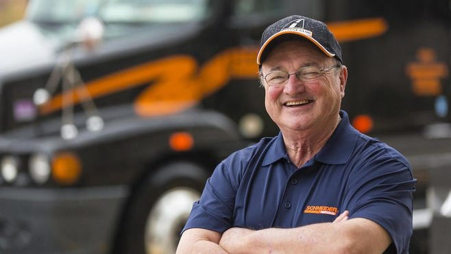 Bob Wyatt, a long-haul truck driver for Green Bay's Schneider who has covered nearly 6 million miles during five decades on the road, will receive this year's International Driver Excellence Award from the Commercial Vehicle Safety Alliance. Sixty-eight years old, Wyatt has driven 43 years for Schneider, and 51 years in all, without a preventable accident.