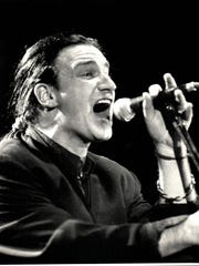 Bono and U2 performed at the Pontiac Silverdome on
