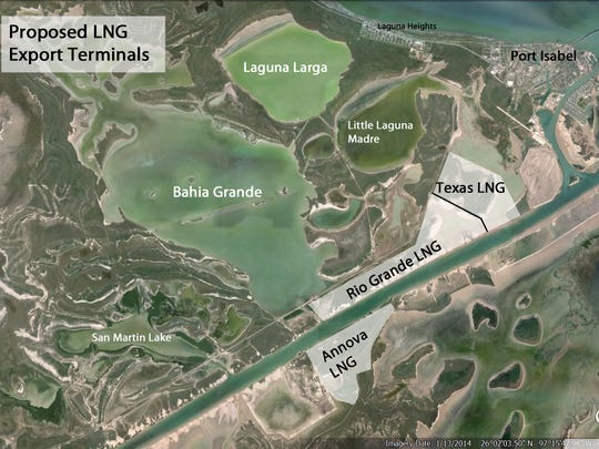 Three liquified natural gas export terminals are being