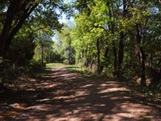 One of the many scenic trails at Abilene State Park.