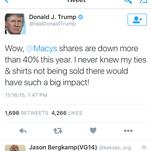 Donald Trump slaps Macy's.