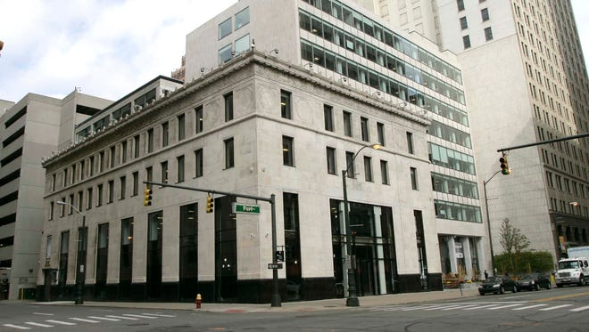 The home of the Detroit Free Press and the Detroit News at 160 W. Fort in downtown Detroit.