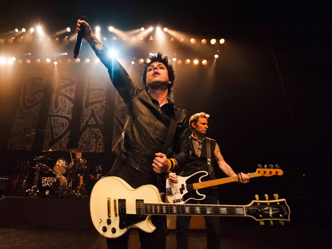 Lead singer/guitarist Billie Joe Armstrong performs