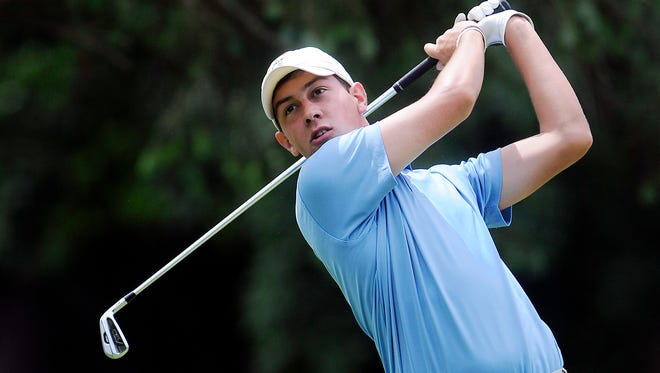 Nick Dilio competes Saturday in the Jensen Cup at Vassar Golf Course in the Town of Poughkeepsie.