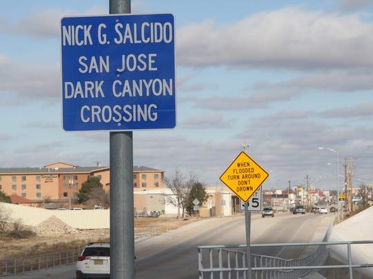 The Nick G. Salcido San Jose Dark Canyon Crossing was dedicated Jan. 9.