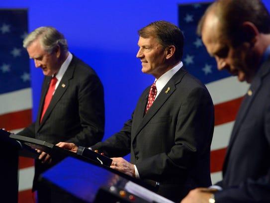 Independent candidate, Larry Pressler, left, Republican