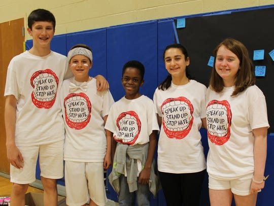 Student leaders from Warren Middle School conducted