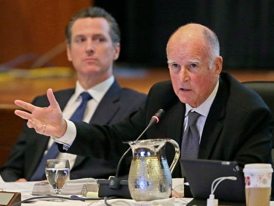 Jerry Brown, Gavin Newsom