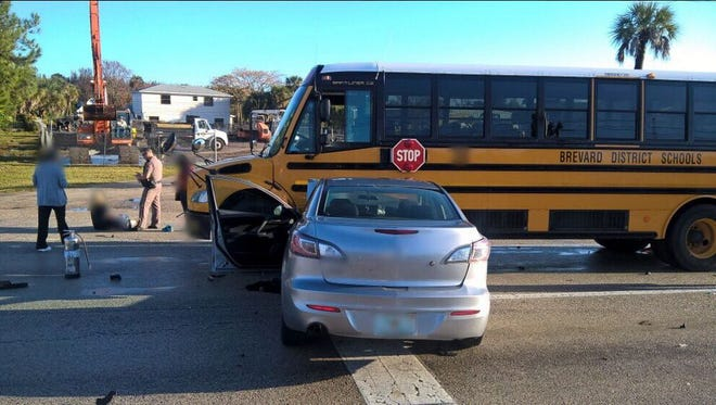 2 cars & a bus involved in a collision @ Burnett Rd/SR520 @ 08:00 am. 3 refusals/1 transport.