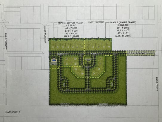 This rendering shows first two phases planned for the