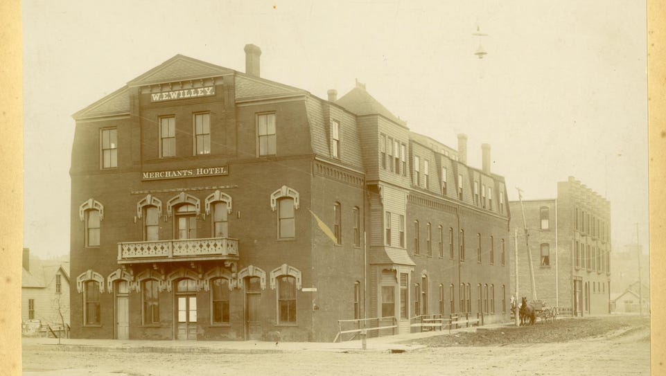 The Merchants Hotel stood at Sixth Street and Phillips