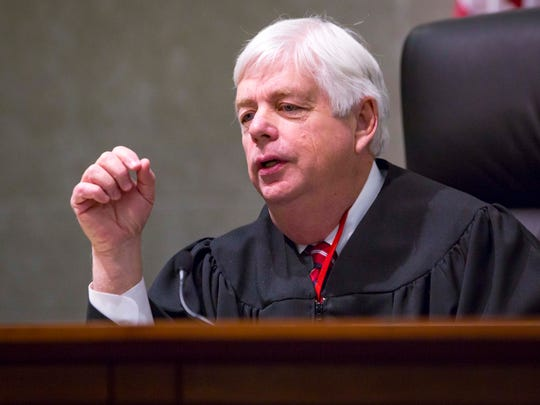 Justice David Wiggins at the Iowa Supreme Court on Tuesday, April 10, 2018, in Des Moines, Iowa.
