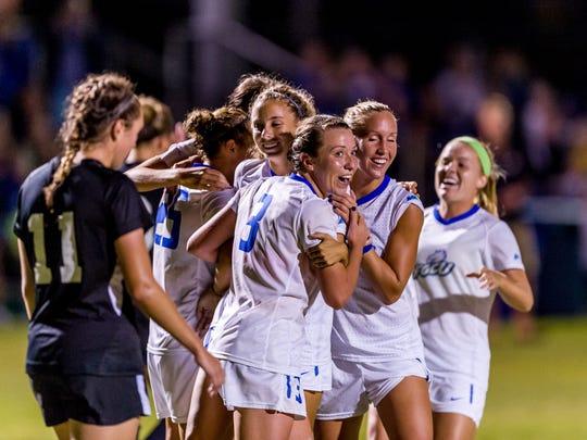 FGCU women's soccer players enjoyed a milestone season