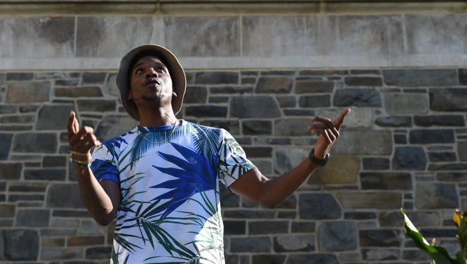 Denzil Porter performs during the Poughkeepsie Journal Patio Sessions.