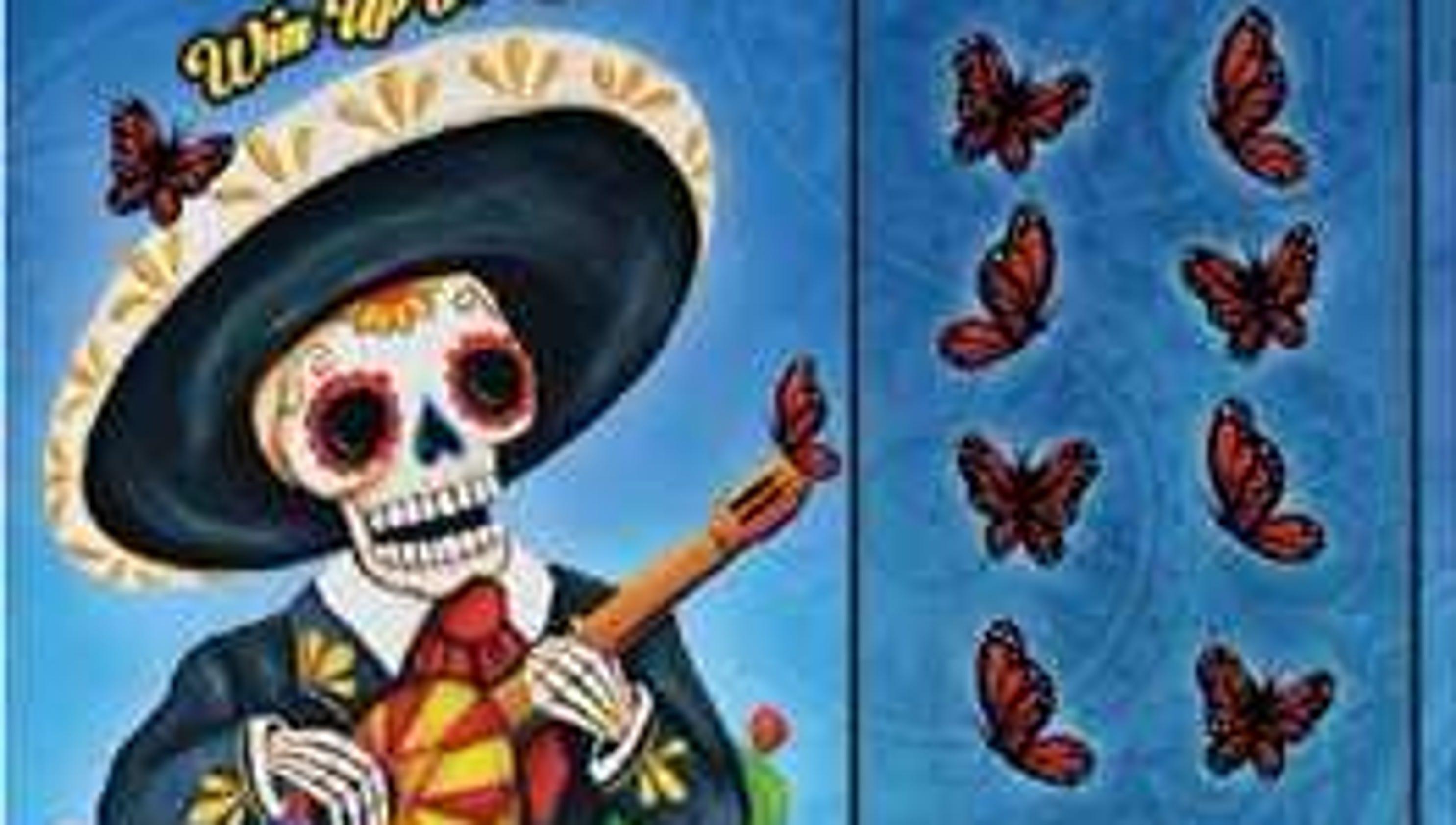 Lotto Gmx dia de los muertos designs on arizona lottery tickets by local artist