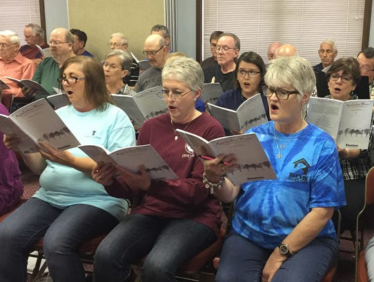 A choir made of members from two local churches will