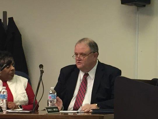 Donald L. Hart Jr. updates the Accomack County Board