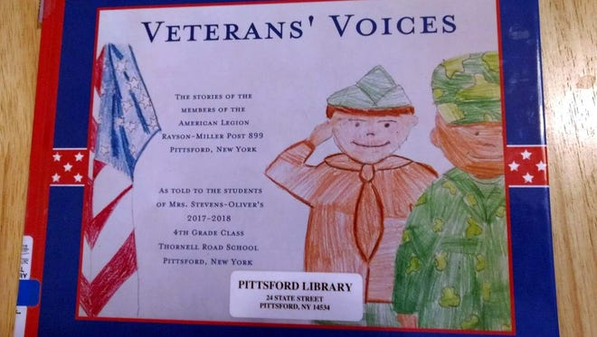 The finished Veterans' Voices book is 30 pages long, and features interviews from 23 local veterans.