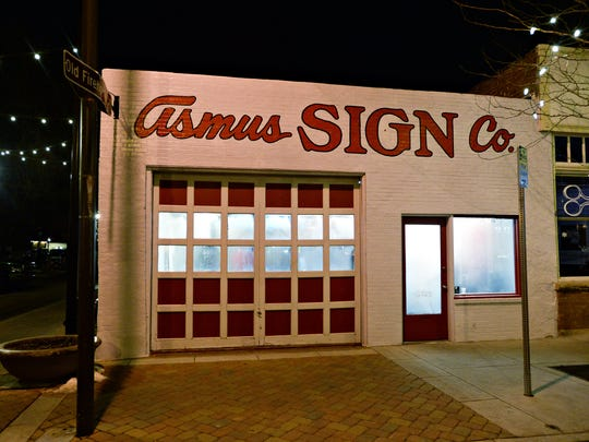 Joe Buckner's boutique boxing studio Beautifully Savage is was formerly Asmus Sign Company.