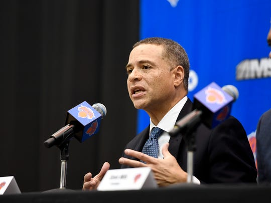 New York Knicks new general manager Scott Perry speaks